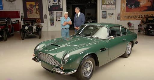 Avatar of Jay and Brad Garrett go for a ride in a 1969 Aston Martin DB6