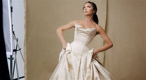 Victoria Beckham gives iconic wedding dress another outing