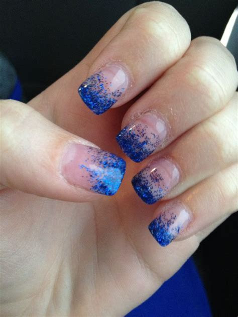my blue prom nails :)   Prom   Royal blue nails, Blue nail