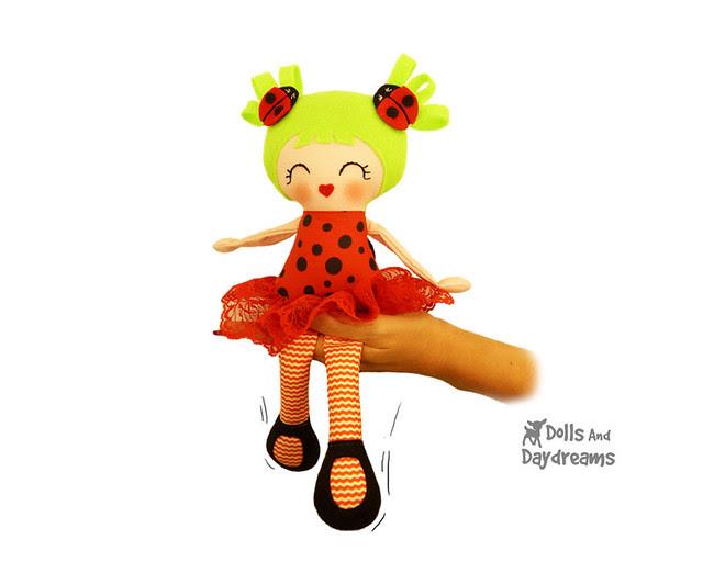 Ladybug Doll Sewing Pattern 12 inch
