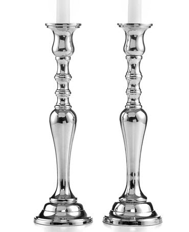 Set of 2 Tall Hampton Candlesticks - Candles & Home ...