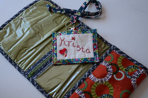 Window pouch and nametag from FQR 2013