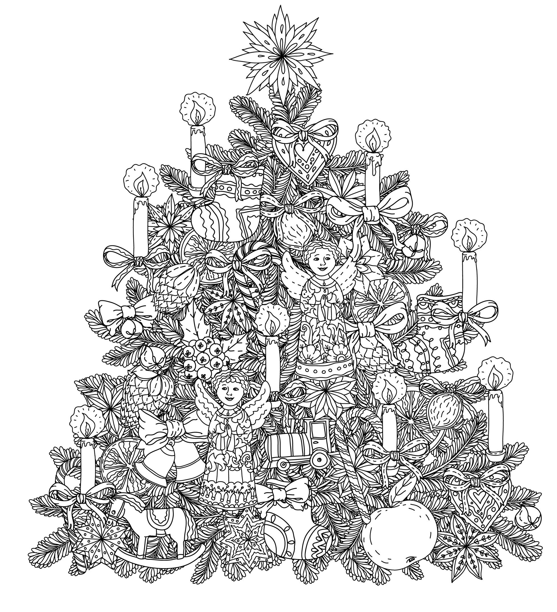Christmas - Coloring pages for adults : coloring-adult ...