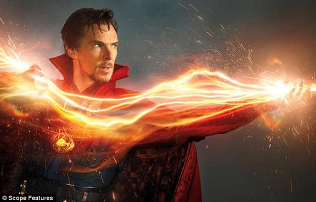 Latest venture: New pictures of Benedict Cumberbatch as the titular character in superhero film, Doctor Strange, have been unveiled