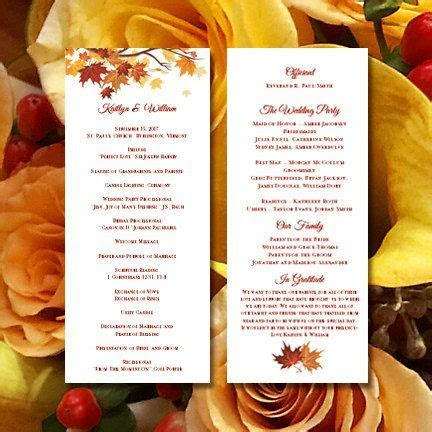 25  best ideas about Wedding ceremony program template on