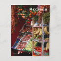 Paris Fruit Market Postcard postcard