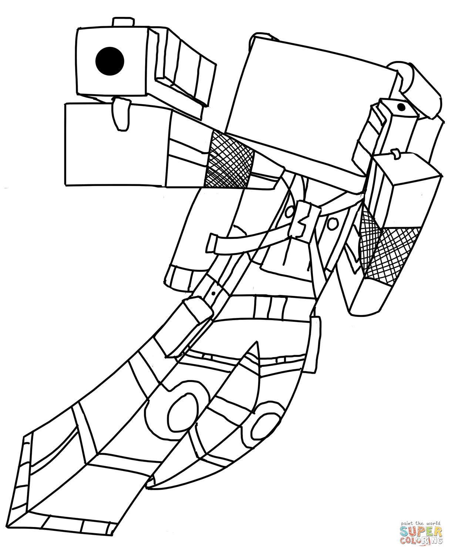 minecraft skins zum ausmalen  malvorlagen