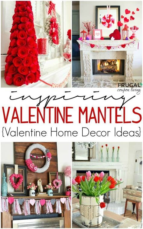 valentine decor valentine mantel ideas home decorating
