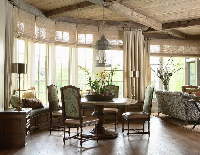 traditional family room by Twist Interior Design | dining room
