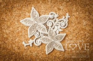 Tekturka - Dwa kwiatki z ornamentem - Flower