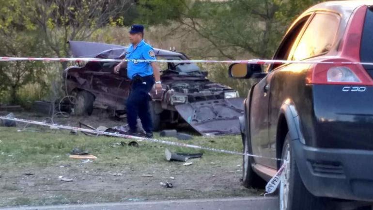 VILLA GENERAL BELGRANO. Así quedaron los autos tras el impacto (Nelson Torres/La Voz).