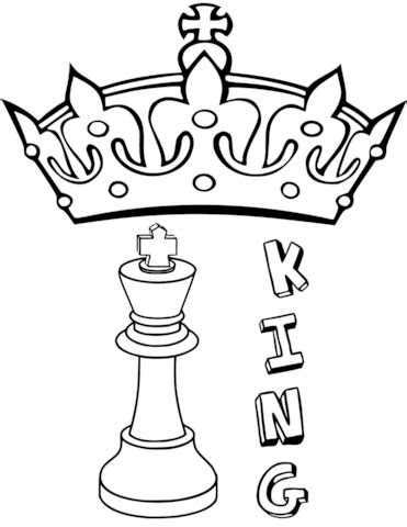 king chess piece coloring page  printable coloring pages