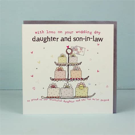 Greeting Card   Daughter & Son in law on your Wedding day