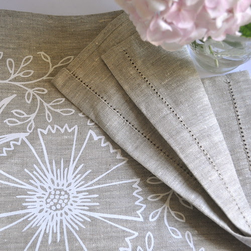hemstitch filigree tea towel