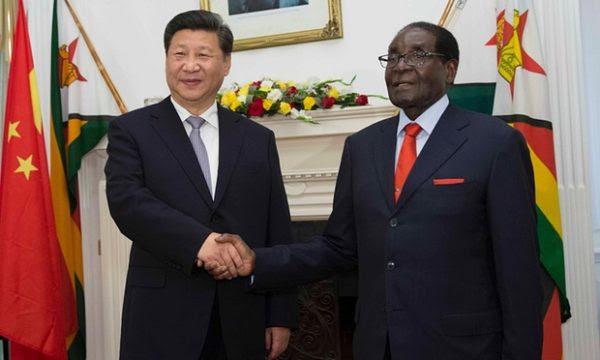 Mugabe in China