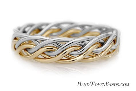 Six Strand Open Weave Braided Wedding Rings by artist Todd