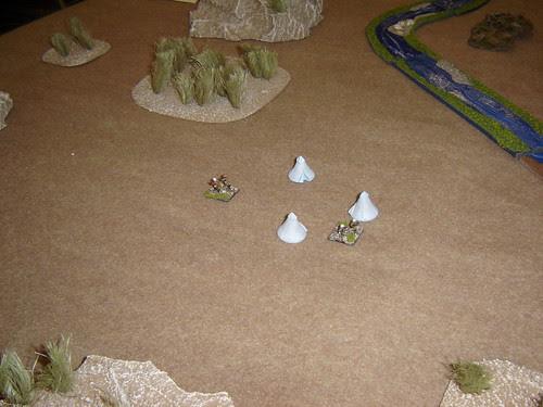 Sentries guard British camp