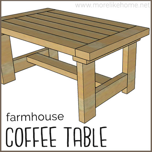 diy coffee table building plans rustic farmhouse style 2x4 easy cheap