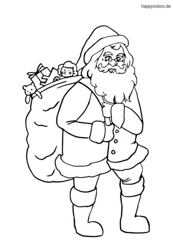 ausmalbilder weihnachtsmann ausdrucken