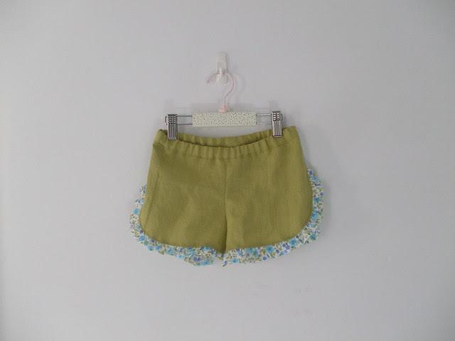 la inglesita ruffled shorts