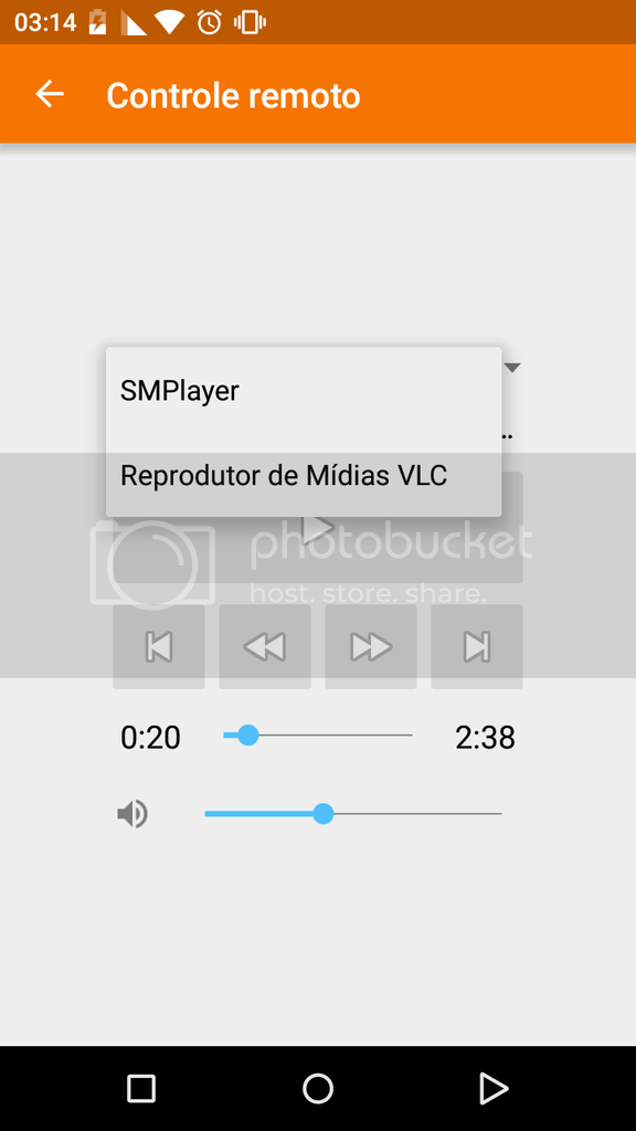 Android - Controle Multimídia (KDE Connect)