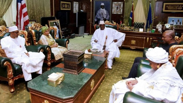 Image result for Nigeria's president flew to Banjul to try to broker a deal but Mr Jammeh