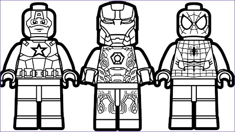 Beautiful Lego Superhero Coloring Pages
