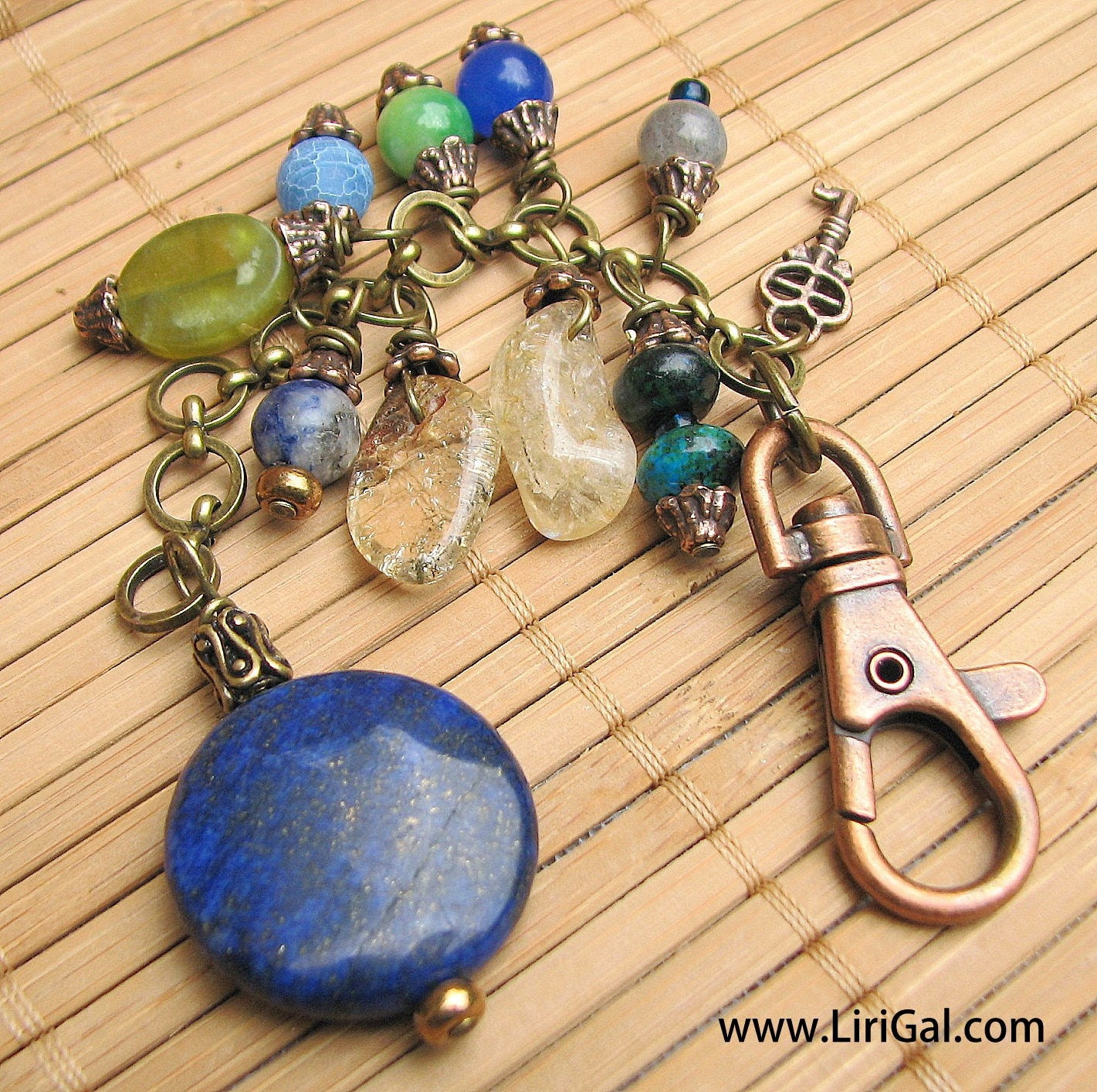 Purse Charm or Keychain in multicolor