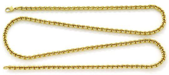 Foto 1, Rundanker-Goldkette Lang mit Karabiner Gelbgold 18K/750, K2601