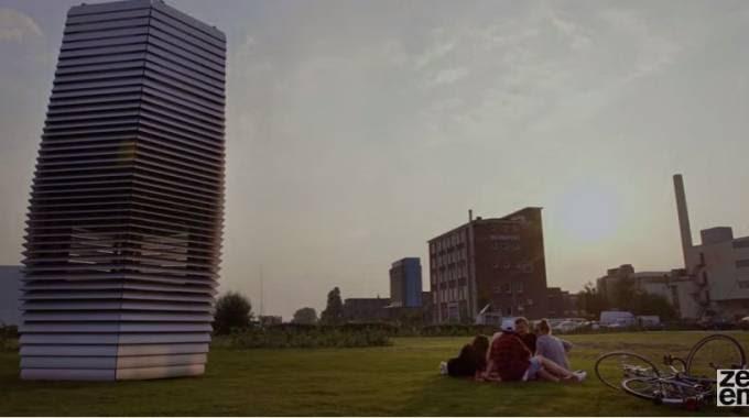 Rotterdam, il prototipo dell'aspirapolvere mangia-smog