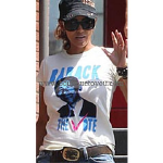 Halle Berry wearing Local Celebrity Barack the Vote tee