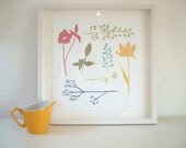 SALE Limited Edition Wild Flower Screen-Print.