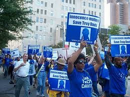 A demonstration in solidarity with Troy Davis. The African American man, 42, maintained his innocence until he was executed on September 21, 2011. by Pan-African News Wire File Photos