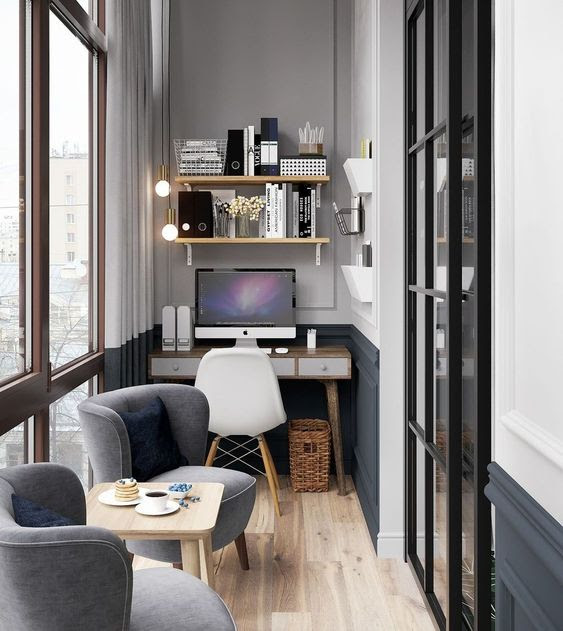Creating Perfect Study Rooms In The Small Balcony Decohoms