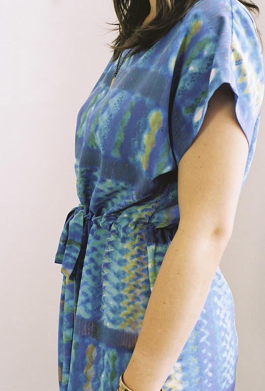 ERMIE Mexico Dress Azul