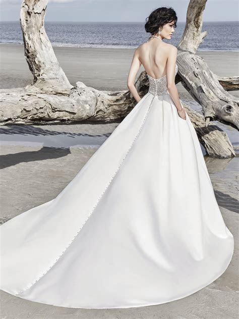 Strapless Sweetheart Sequin Bodice Satin Skirt Ballgown