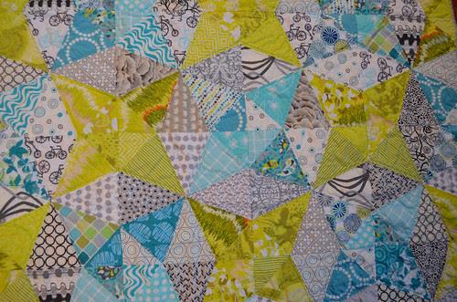 Kaleidoscope Quilt - quilting detail