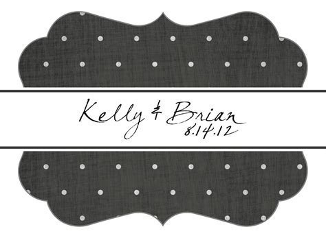 Hand Made Custom Wedding Stickers Die Cut   Dots And