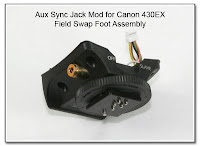 AS1025: Aux Sync Jack Mod for Canon 430EX - Field Swap Foot Assembly