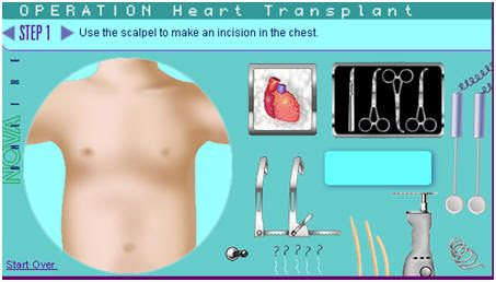 This site has virtual surgeries of all types and virtual dissections!