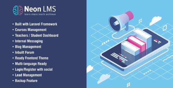 NeonLMS v2.1.8 - Learning Management System PHP Laravel Script