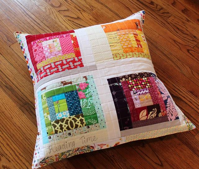 Rainbow Improv Floor Pillow
