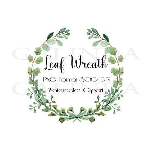 Watercolor floral FramesWatercolor Leaf Frame Leaf ClipArt