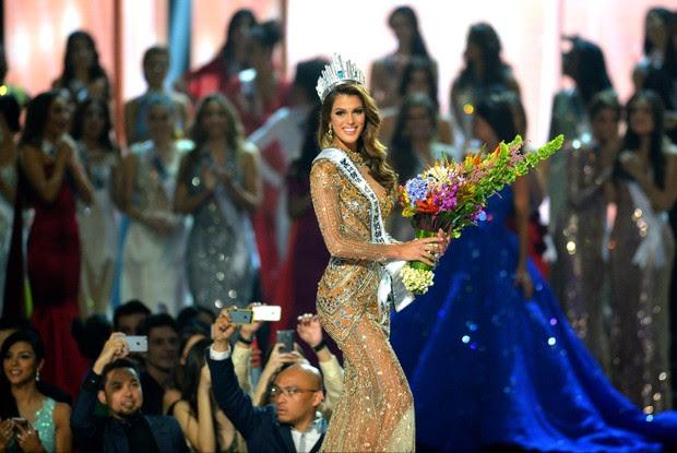Iris Mittenaere, a Miss França, é coroada Miss Universo 2016 (Foto: AFP)