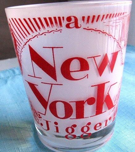 New York Jigger Glass Souvenir