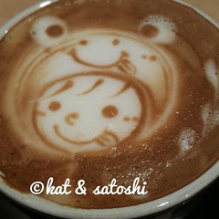 cute cappuccino @ bar ista
