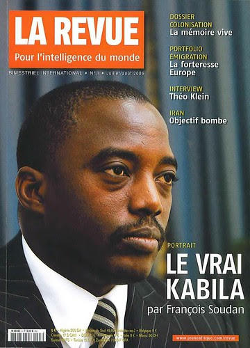 "President Joseph Kabila on cover that reads ""La Revue"". The Democratic Republic of Congo held national elections in early December 2011. The central African state is a large repository of strategic minerals. by Pan-African News Wire File Photos"