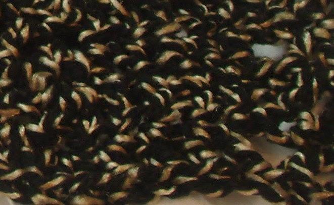 Black and Tan Hand Crocheted Shawl