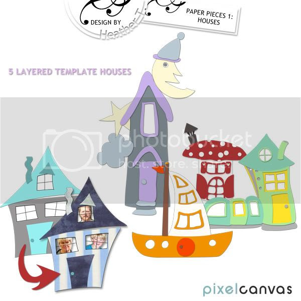 Heather T., Paper Pieces: Houses 1