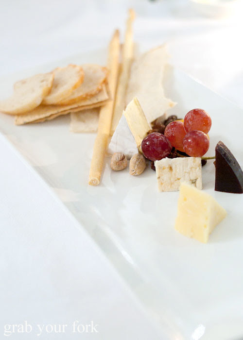 cheese plate at the langham galileo restaurant sydney